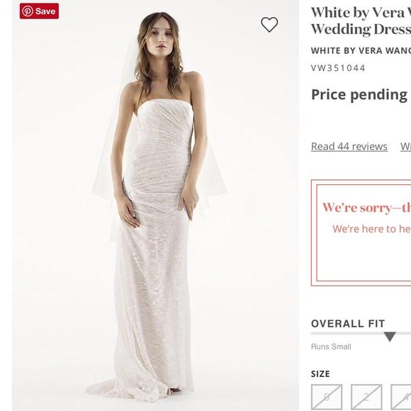 White by Vera Wang Dresses & Skirts - White by Vera Wang Strapless Lace Wedding Dress